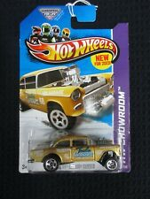 HOT WHEELS 55 CHEVY BEL AIR GASSER GOLD HW SHOWROOM IN SEALED PACKAGE