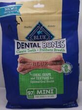 New listing Blue Buffalo Dental Bones Natural Adult Dental Chew Dog Treats 97 Mini 27oz