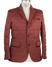 NWT Brioni Storm System Down Filled Jacket L Made in Italy Cashmere~Silk~Leather