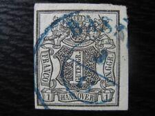 HANNOVER GERMAN STATES Mi. #2 scarce VF used stamp! CV $13.25