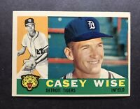 1960 Topps #342 Casey Wise Tigers Nice card No creases