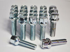 Extended Merc Mercedes Wheel Bolts and lockers M14 x 1.5 40mm Radius (Silver)