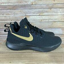 Nike LeBron James Witness III Black Gold Shoes LBJ 23 AO4433 003 Men's SIZE 9 *