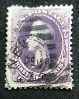 """us stamps scott 218 """"NEW YORK(?)"""" Cancel Good Centering Clean Back"""