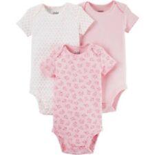 Carter's Baby Girls Basic Short Sleeve 3 Pack Bodysuits 3-6M (Patterns may vary)