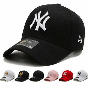 New Mens Womens Baseball Cap Adjustable NY Snapback Sport Hip-Hop Sun Hats