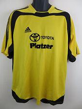 Vtg Adidas 1990s Football Shirt 3 Stripe Retro Soccer Jersey Skjorte Trikot XL