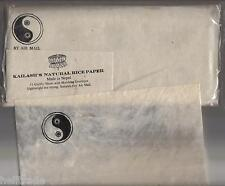 "Kailash 's natural rice Paper Airmail set-papel de arroz set ""ying-yang"" Nepal"