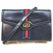 Gucci Shoulder Bag  Navy Blue Leather 705657