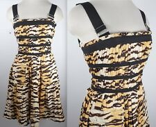 New D&G Dolce&Gabbana sz 42 / US 6 tiger animal print dress with pockets