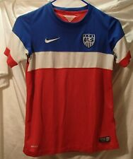 USA Nike Dri-Fit US Soccer National Team Jersey Youth Size Large Sewn Logos