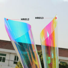 2 Colors Mixed Pack Dichroic Decorative Window Tint Home Party Rainbow DIY Film