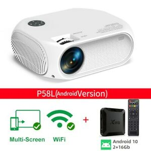 Salange HD Mini Projector Wifi P58 Led Proyector 1280 x 720P Projector Phone