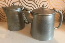Great Vintage Pewter Teapot And Hot Water - Hitchinson National Silvercid