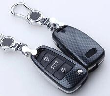 Carbon fiber Black key cover case for AUDI A3 A4 A5 A6 A7 A8 R8 TT S5 S6 S7 S8