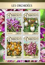 Djibouti - Postfris/MNH - Sheet Orchids 2016