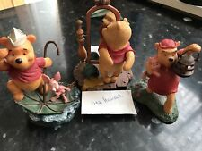 Winnie The Pooh Simply Pooh Ornaments X3 Bundle Collection Disney Set