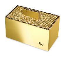 Windisch 88520 Wattebällchenbehälter Dose mit Deckel gold mit STRASS® Swarovski®