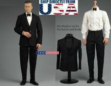 "1/6 Vintage Gentleman Tuxedo Suit Set A For Brad Pitt 12"" Hot Toys Figure U.S.A."