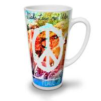 Make Love Not War Fashion NEW White Tea Coffee Latte Mug 12 17 oz | Wellcoda