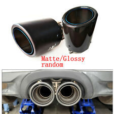 Auto Car 63mm-101mm Real Carbon Fiber Exhaust Tip Pipe Muffler Blue Burnt Steel