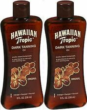 Hawaiian Tropic Dark Tanning Oil Original 8oz ( 2 pack )  FRESH STOCK!***