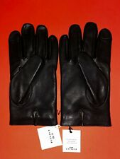 NWT $130 COACH 54182 MEN'S BASIC NAPPA LEATHER TECH TOUCH SCREEN GLOVES Black L