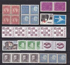 SWEDEN ^^^^x30  older MNH  ( strips +  Pairs, Blocks)   Coils  $$$@lar1721swed21