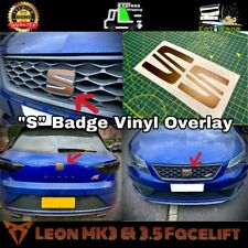 "Eaziwrap Leon MK3.5 Cupra FR PreCut ""S"" Badge Overlay Sticker COPPER / BLACK"