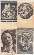 Lot 4 CPA post card ITALIE ITALIA ITALY FLORENCE FIRENZE tabella BOTTICELLI 1