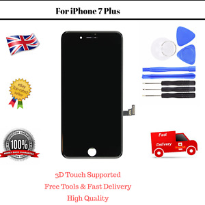 OEM Apple iPhone 7 Plus Black Digitizer LCD Touch Screen Assembly Replacement