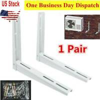 1-Pair Outdoor Wall Mounting Bracket for Mini Split Air Conditioner Up to 180Lbs