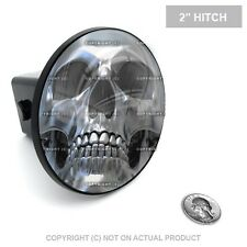 "2"" Tow Hitch Receiver Plug Cover Insert For SUV & Truck - SILVER SKULL FACE"