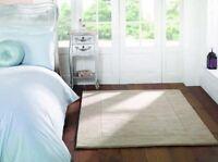 VENTE Toscane Siena Crème Naturelle Doux Laine tapis en tailles variées et tapis
