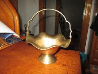 Vintage Miniature Brass Basket, Trinket Bowl  India Napcoware