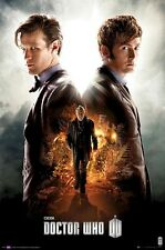 DOCTOR WHO ~ 50TH ANNIVERSARY 24x36 TV POSTER DR Matt Smith David Tennant Day Of