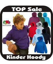 Kinderkapuzensweat Shirt Kinder Pullover Hoody 80/20 Fruit of the Loom 16 Farbe