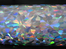 Hot Stamping Holographic Foils.     SILVER CRYSTALS.   24 In X 500 Ft.  PROPIUSA