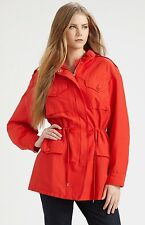 Nwt $398 Marc by Marc Jacobs Brice Flap-Pocket Safari Jacket Coat ~Flame *L