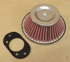 "CLASSIC MINI 1 3/4 INCH 1.75"" CONE AIR FILTER & GASKET - HIF44 CARBS  AFC175"