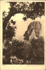 CAPRI Italien Cartolina Italiana Italy Postcard ~1920/30 Faraglioni Via Nuova