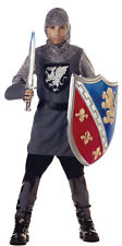 Child Size 8-10 Kids Medieval Valiant Knight Costume - Medieval Costumes