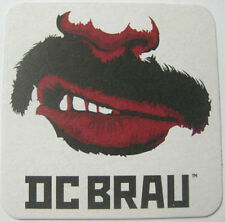 DC BRAU Brewing Company, Beer COASTER, Mat, WASHINGTON, D.C.