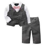 Baby Page Boy Christening Formal*Wedding*Tuxedo 2pc Grey Suit Free UK P+P