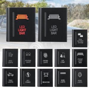 For Volkswagen Amarok Left Push Switch Button LED Work Rear Spot Fog Light BAR