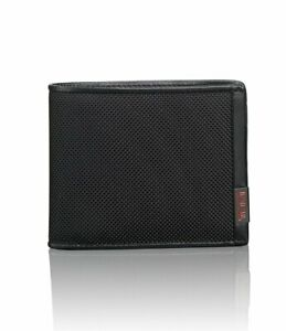 Tumi Alpha SLG Global Removable Passcase Black Nylon Leather Wallet 93741-1041