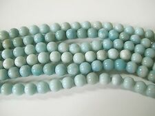 Amazonite round beads10mm. Natural amazonite gemstone beads. Icy blue amazonite