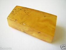 Butterscotch geschnittener Natur Bernstein 9,48 g/3,7 x 2,0 x 1,3 cm Amber