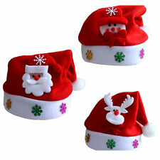 Toddler Kids Christmas Hat Santa Claus Reindeer Snowman Xmas Party Gifts Cap GA