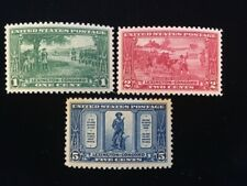 U.S: MINT #617-19 NEVER HINGED OG CHOICE GEM SET CV $36.25